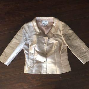 Rickie Freeman for Teri Jon silk suit blazer